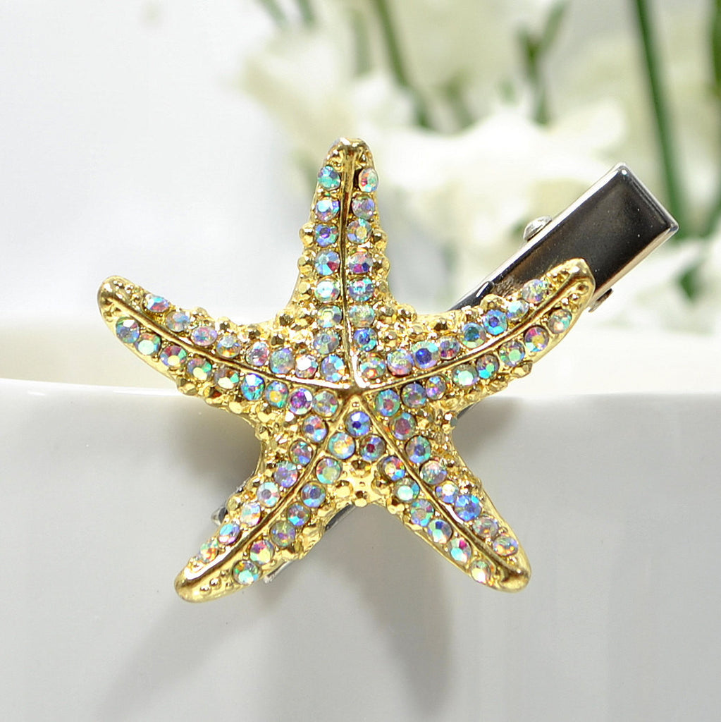 Sold - Starfish Hair Clip Beach Hair Barrette