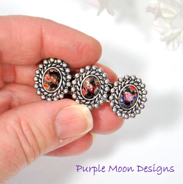 Small Barrette Purple Hair Clip