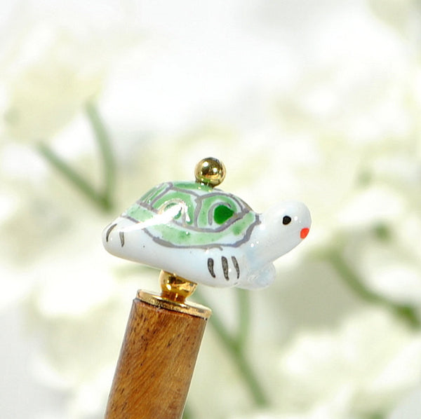 "Turtle Hair Stick Hair Beads - ""Motivation"""