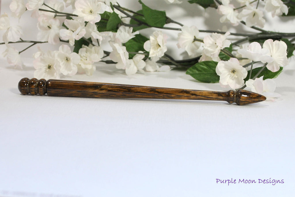 Oak Wood Hair Stick 7 inch Handmade Hairpin - L18 - Handmade by Purple Moon Designs