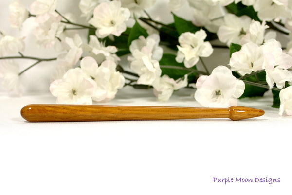 Short Hair Stick, Oak Hairstick - #SM06 - Purple Moon Designs - 1