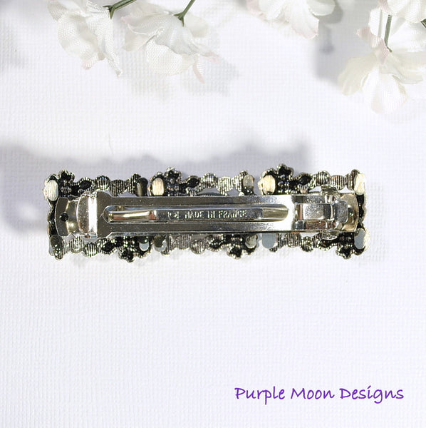 Flower Barrette, Bridal Hair Clip - Purple Moon Designs - 4