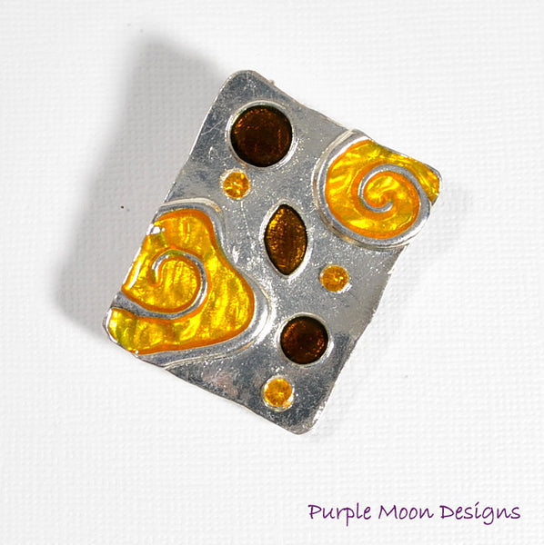 zINVENTORY - Orange Hair Pin, Orange Alligator Clip, Elegant Barrette - Purple Moon Designs - 3
