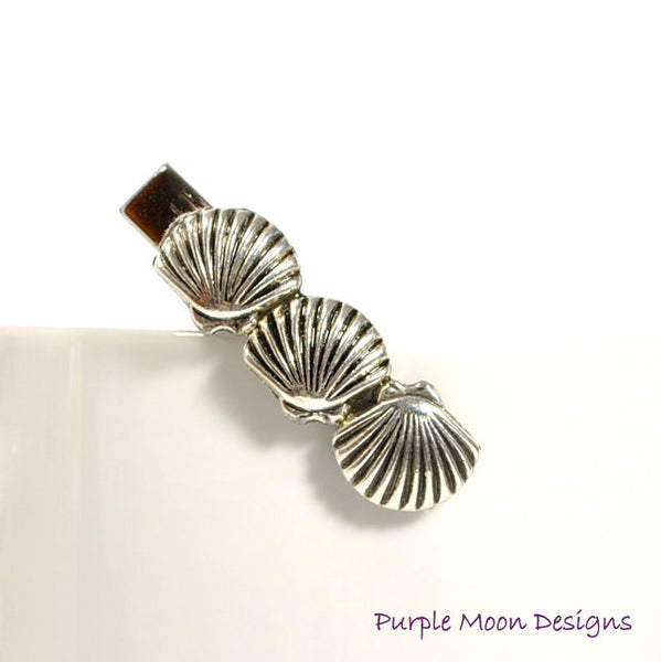 zPICTS - Seashell Hair Clip, Beach Hair Clip - Purple Moon Designs - 3