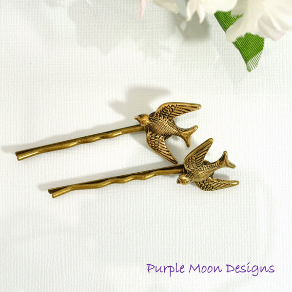 Woodland Bird Bobby Pin - Purple Moon Designs - 3