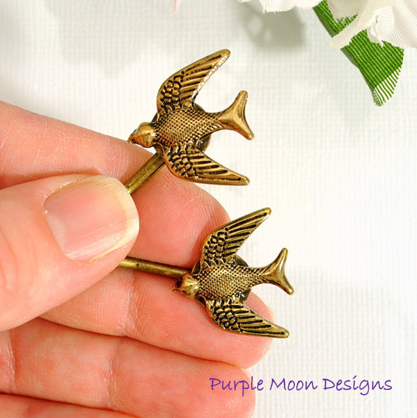 Woodland Bird Bobby Pin - Purple Moon Designs - 2