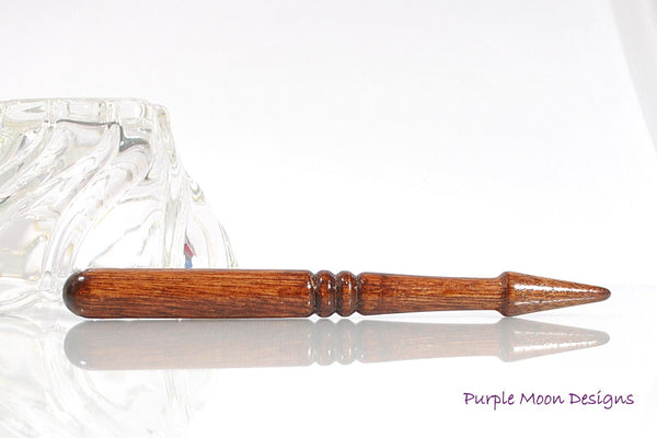 Oak Wood Hair Stick Hand Turned Hairstick - M2 - Handmade by Purple Moon Designs