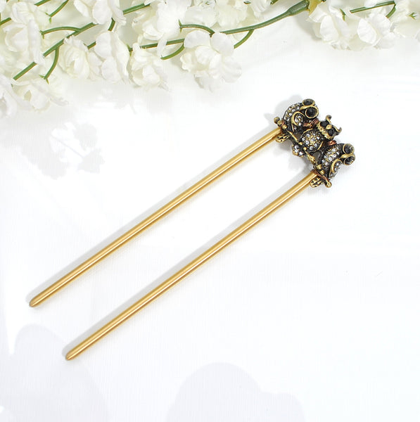 Sold - Owl Hair Fork, 4.75 inch, Strong Hair Pick