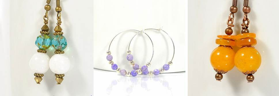 Handmade earrings by Purple Moon Designs