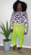 Load image into Gallery viewer, Leopard Eyelash Sweater Lilac (XXL)