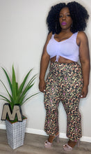 Load image into Gallery viewer, EYE CANDY FLORAL FLARE PANTS (2X)