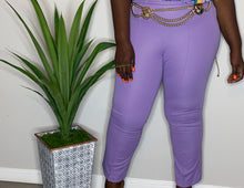 Load image into Gallery viewer, Vintage Polyester Lilac Trousers (14/16)