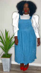 Vintage Cross Towne Denim Overall Dress (Fits up to 3X)