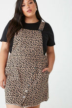 Load image into Gallery viewer, Denim Leopard Overall Dress (2X)