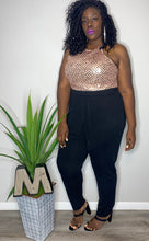 "Load image into Gallery viewer, ""Porsha"" Sequin Jumpsuit (3X)"