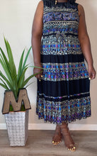 "Load image into Gallery viewer, ""Michele"" Vintage Noire Print Pleated Dress (16)"