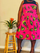"Load image into Gallery viewer, ELOQUII exclusive ""Horned Melon"" Print Dress (22)"