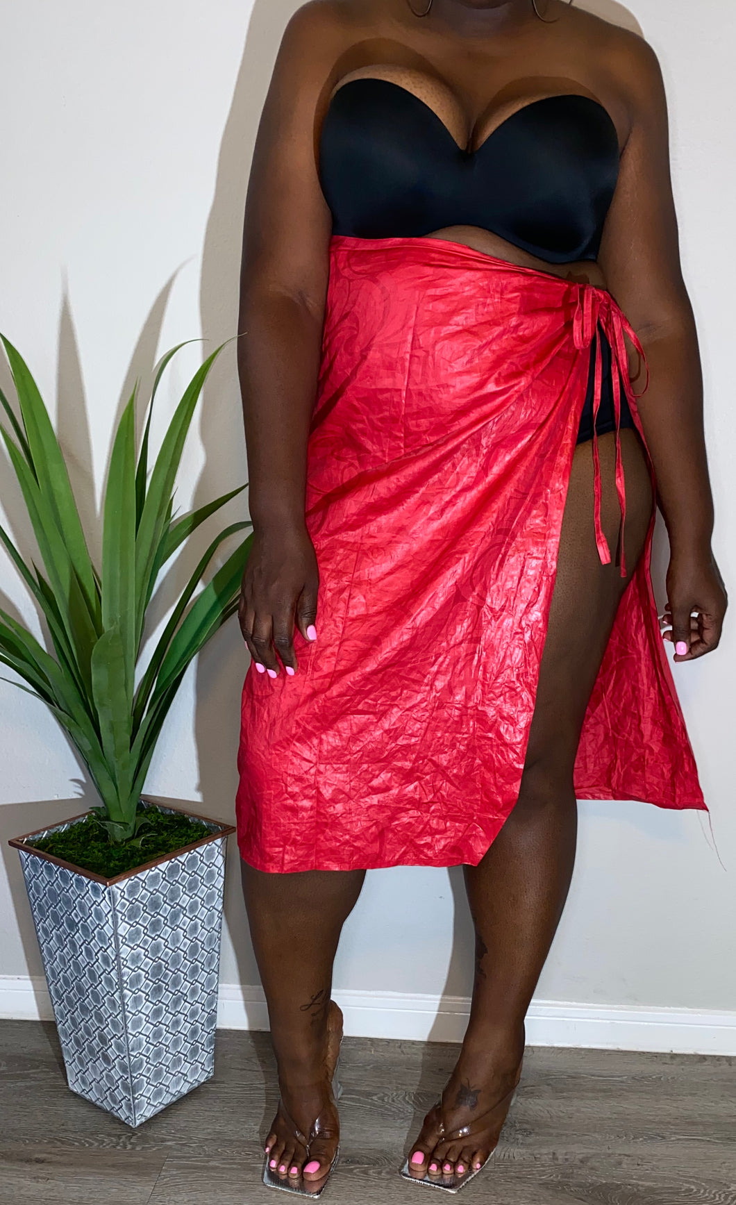 Red Wrap Skirt (Size S-L)