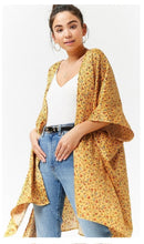 Load image into Gallery viewer, Floral kimono/cardigan (free size)