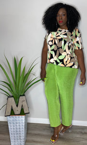 Vintage Green Play Pants (2X)