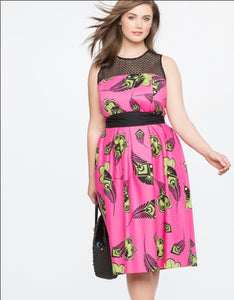 "ELOQUII exclusive ""Horned Melon"" Print Dress (22)"