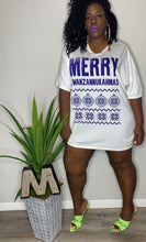 Load image into Gallery viewer, Merry Kwanzannukahmas Mens OVERSIZED Graphic Tshirt (4XL)