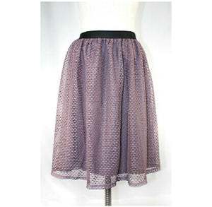 Xhilaration Lavender  Lace Layered Skirt (L)