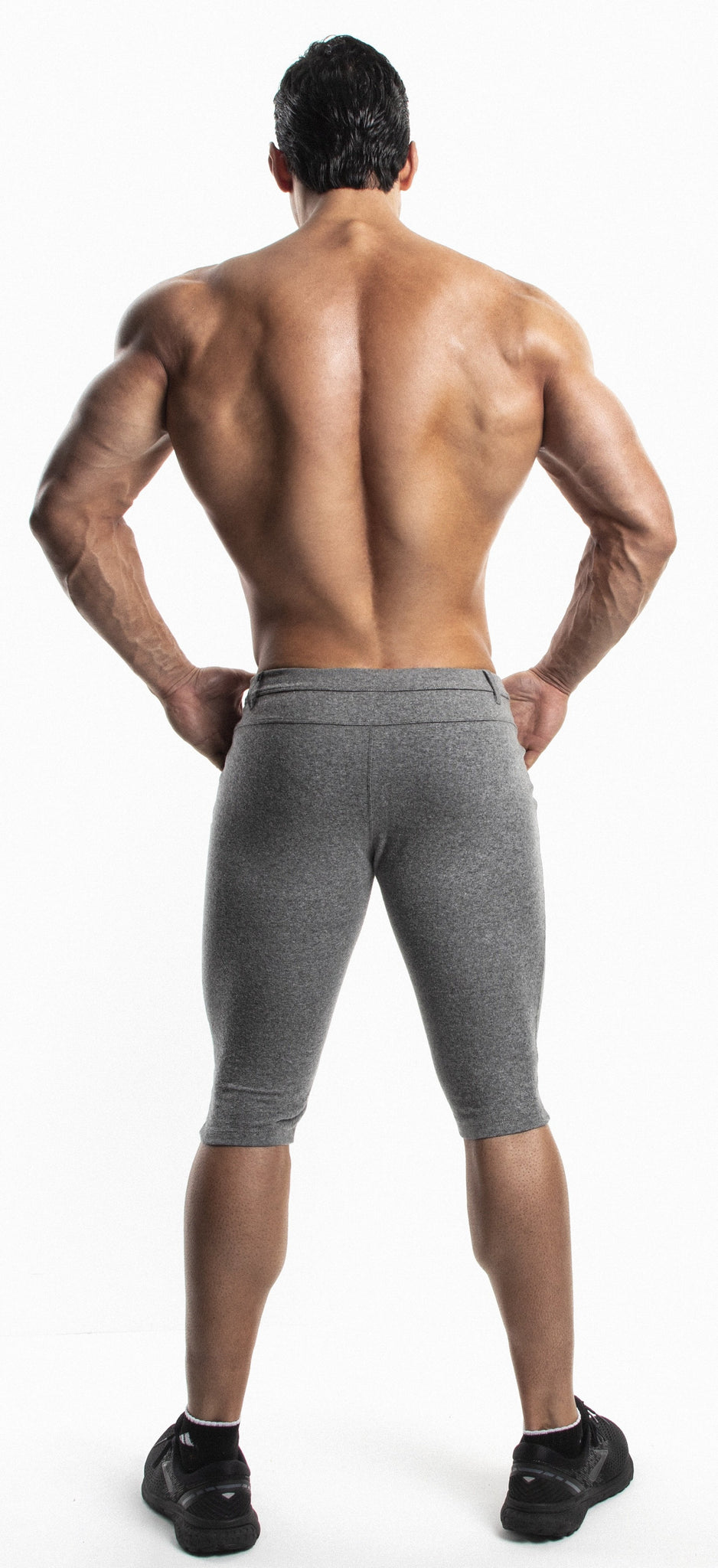 Capri Workout Pants(GRAY)-(Organic Cotton/Elastin) - DEMIG