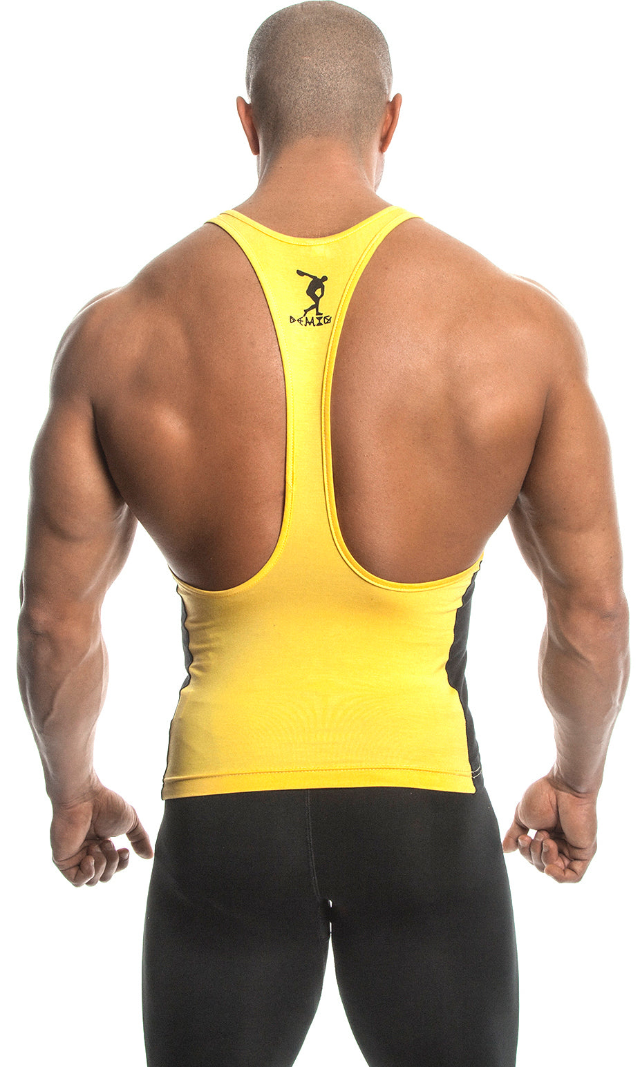 Tank Top (Yellow/Black) - Bamboo/Elastin Fiber - DEMIG