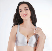 Sexy Seamless Front Closure Back Designer Butterfly Adjustable Push Up Bra