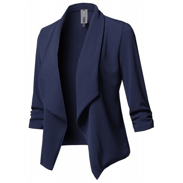New European Style Office Solid Color Slim In 10 Colors Blazer