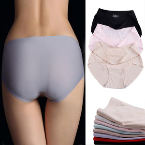 Comfortable Cotton Plus Size Seamless Panties Briefs High Waist Underwear
