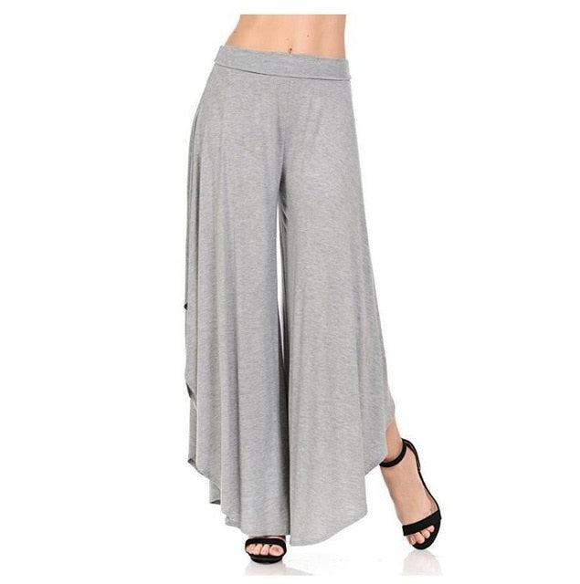 Casual Loose Asymmetrical Patchwork Wide Leg Pants