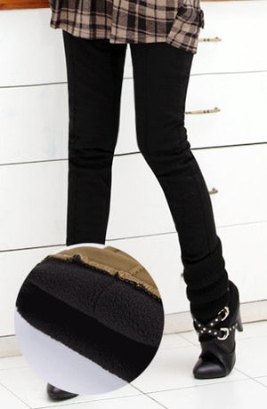 Skinny High Waist Skinny Thick Velvet Warm Leggings