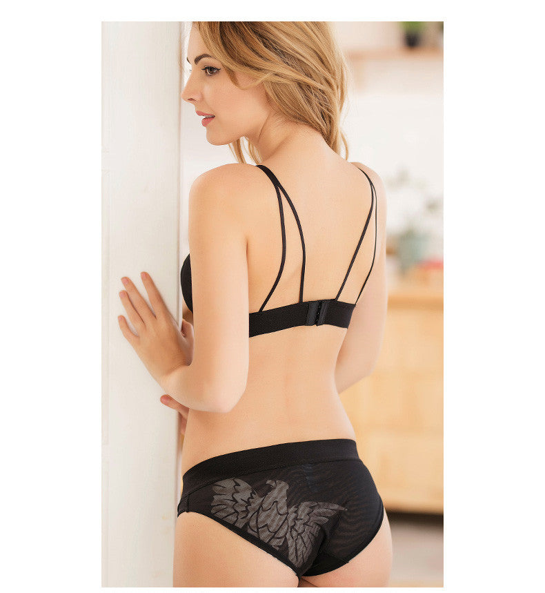 Sexy Underwear Embroidery Set - Lace transparent, Temptation