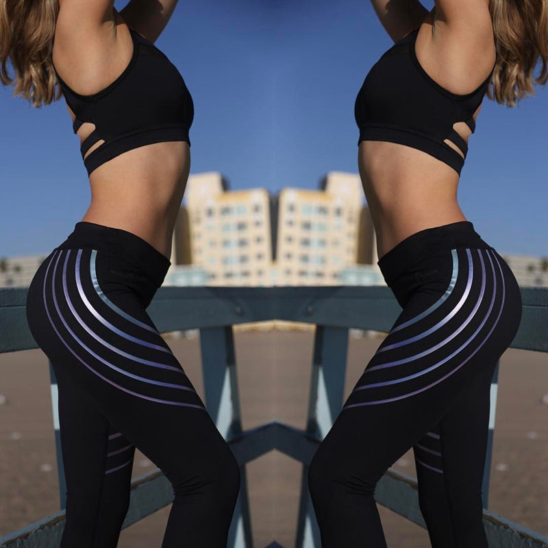 Fashion Modern Lines Design Slim Fitness Leggings