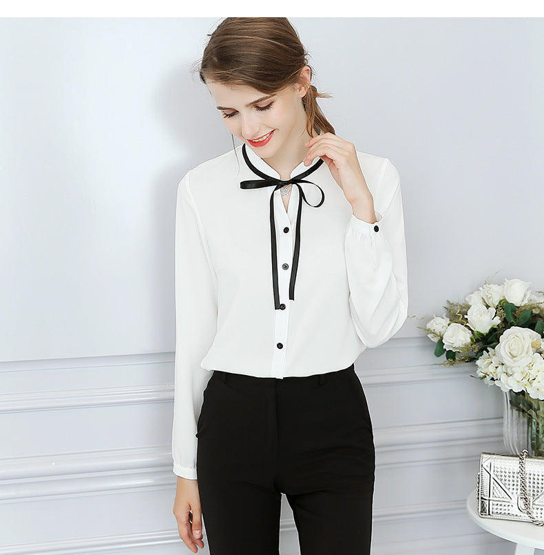 New , Tops Office Fashion Long Sleeve