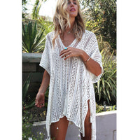s Beach Bandage Hollow Loose Mini Sundress