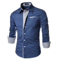 Bursts of British Sundries Trendy Hit Color Men Long-sleeved