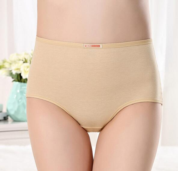 Plus Size Underwear Panties Cotton Solid Briefs Cute Thong