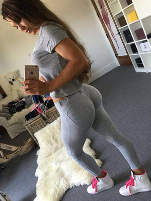 High Quality Low Waist Push Up Elastic Casual Leggings