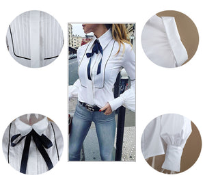 's Office White Necktie Bow