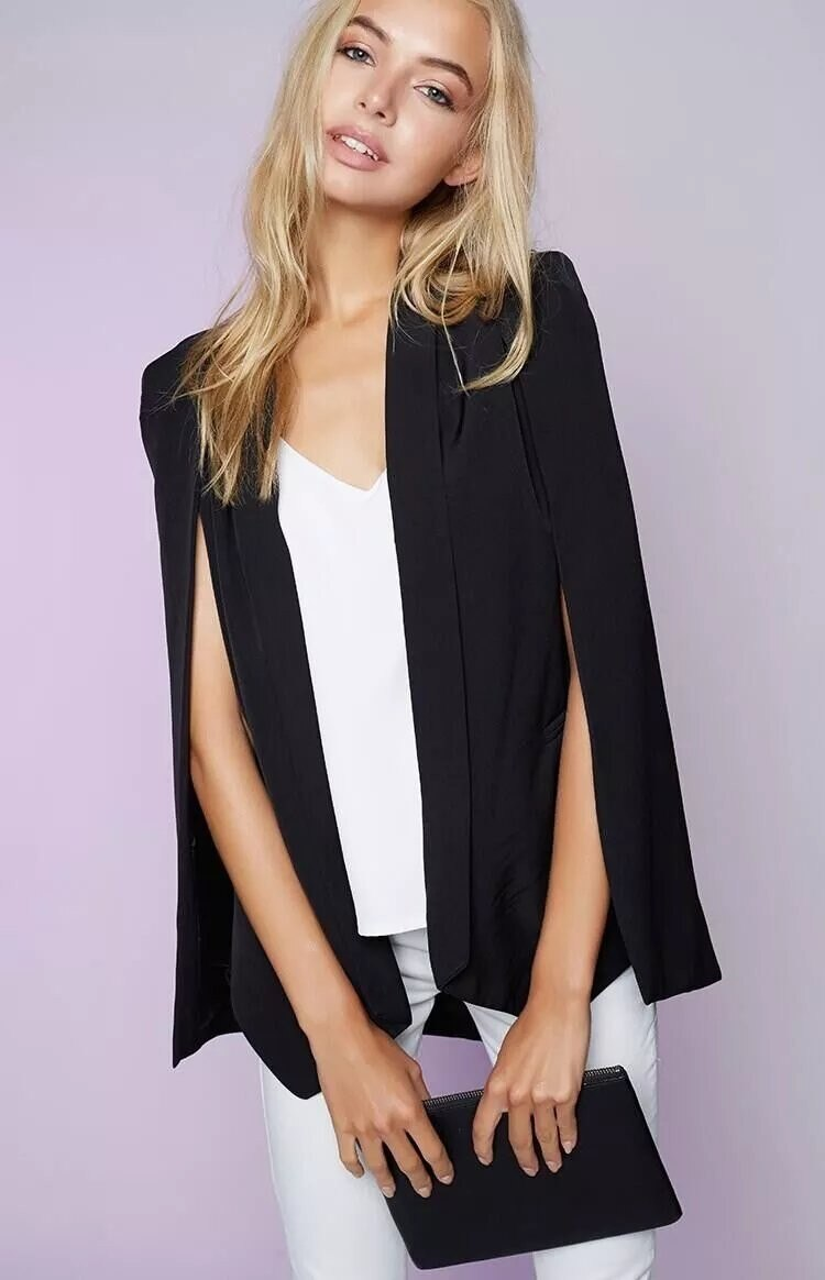 outwear new shawl blazer cape
