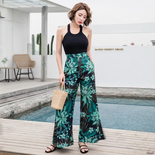 's Casual Retro Print Bohemian Beach Pants