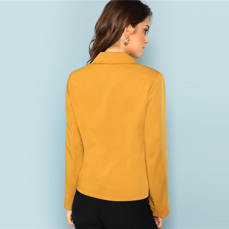 Ginger Single Button Work-wear Blazer