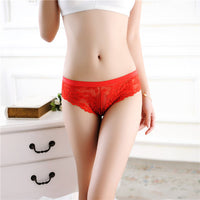 Women's Sexy Lingerie Lace Thong Seamless Transparent Panties