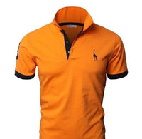 Men's Fashion Personality Cultivating Short-sleeved POLO