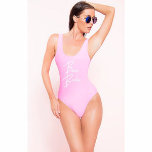 Boss babe one piece suit swimwear beachwear monokini