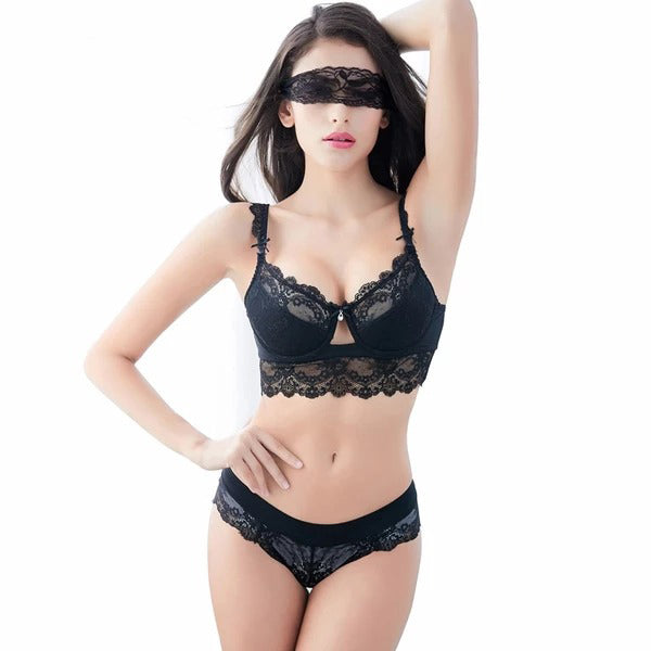 Fashion Sexy Lingerie lace padded Bra & Panties Set