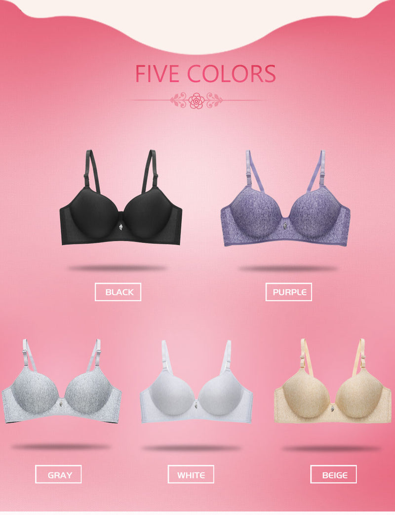 Fashion Quality Cotton Wireless Bra Sexy Bralette 3/4 Cup